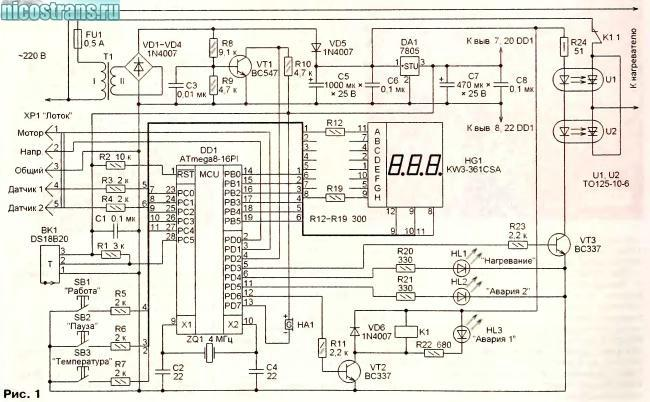 Схемы терморегулятор для инкубатора своими руками 69